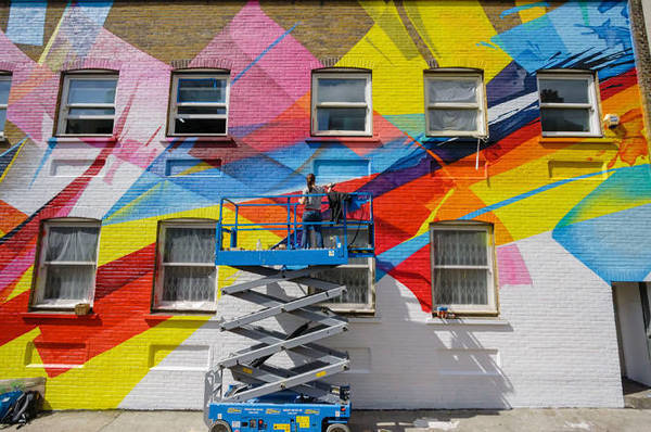GW Team's flick on MADC Mural in London, Shoreditch.