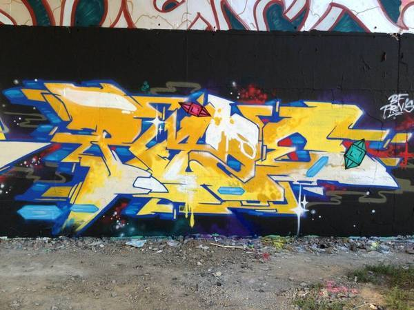 Tom Junker's flick on Blansko Legal Graffti wall.