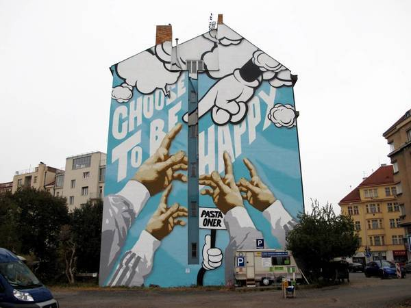 Pasta Oner's flick on Mural Dejvice.