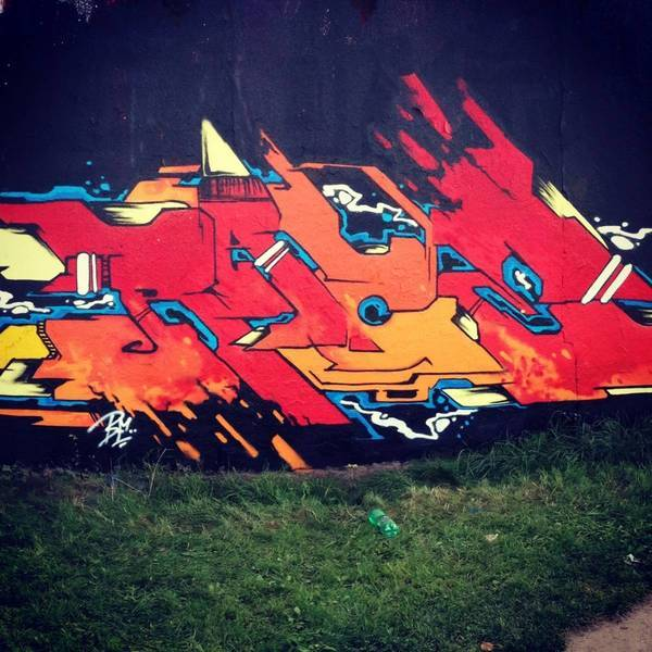 Tom Junker's flick on Graffiti wall Zenit - Olomouc.